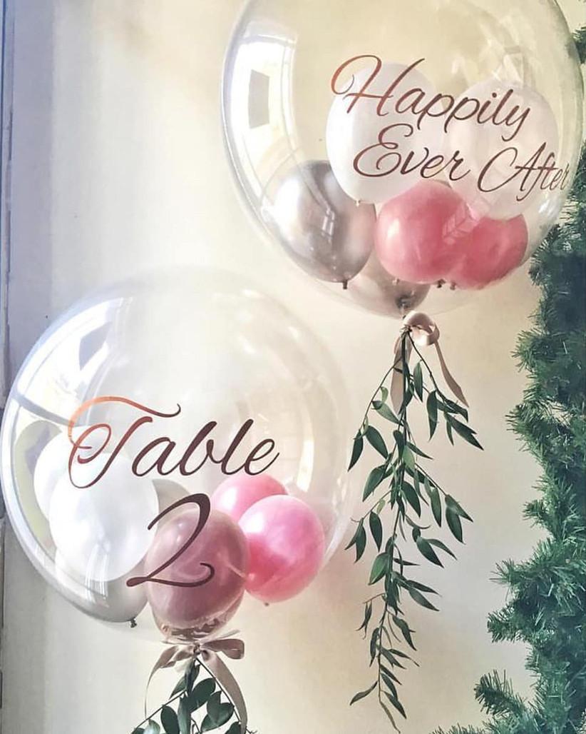 Transparent wedding balloons