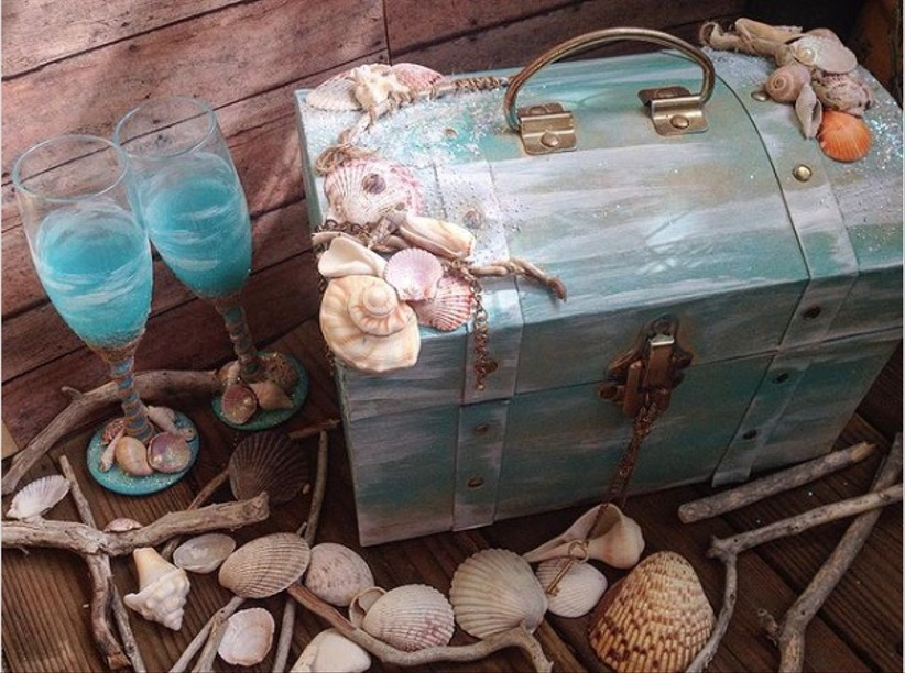 Wedding card box ideas - treasure chest