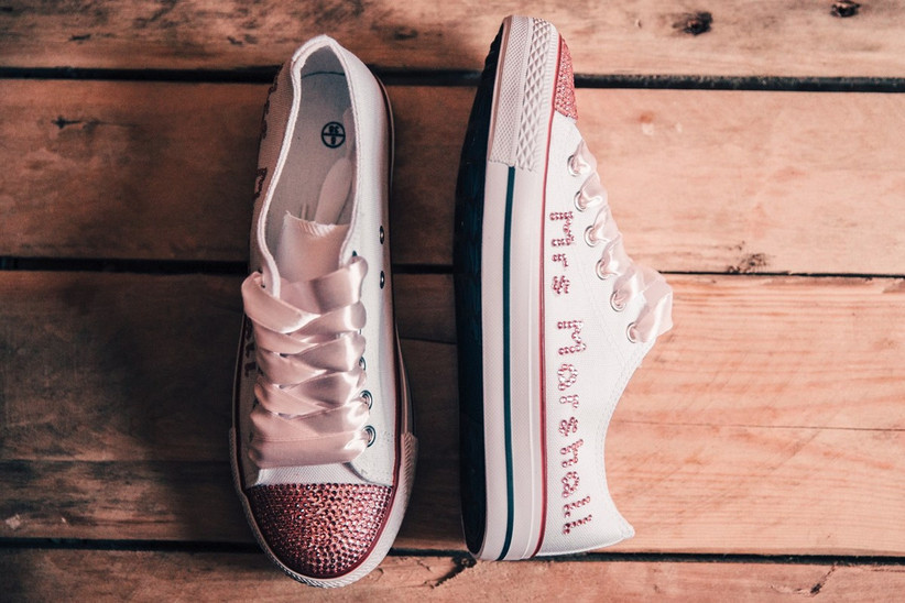 Custom wedding converse with married name