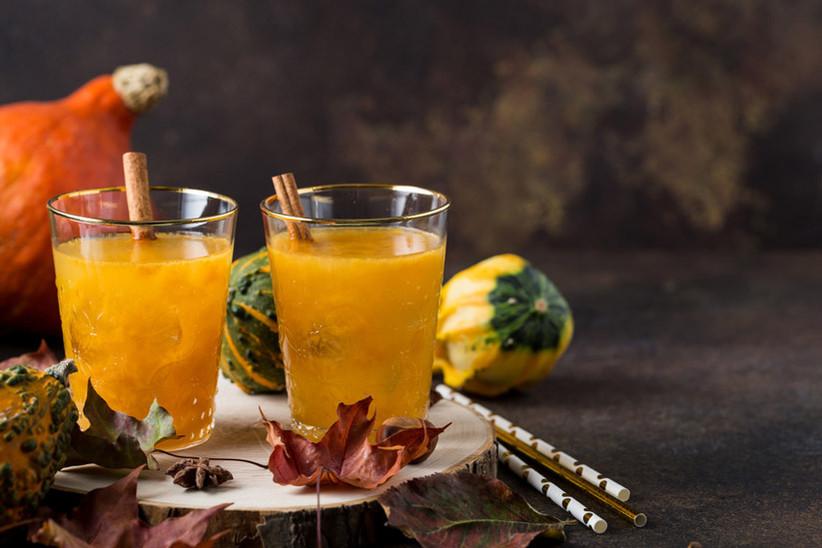 Pumpkin-infused wedding cocktails