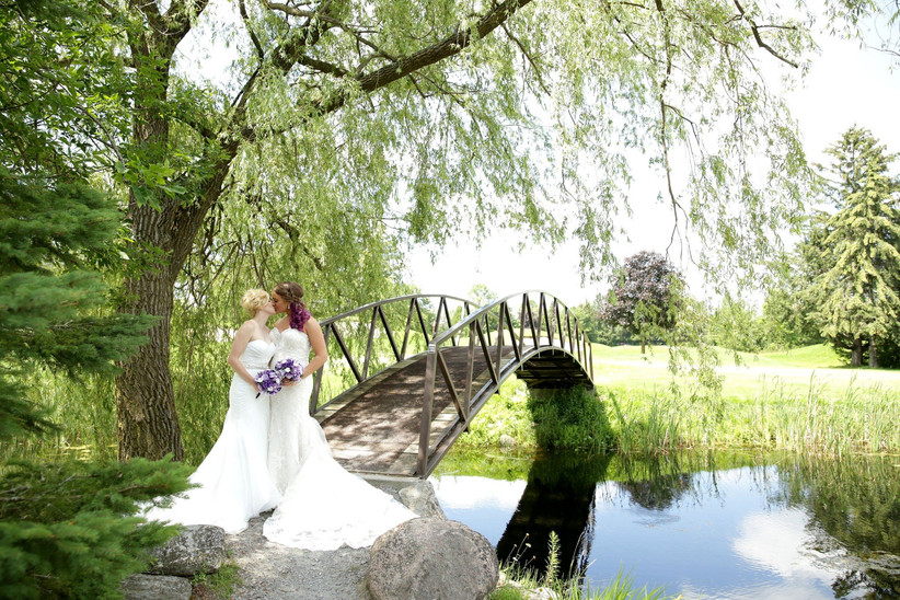 Outdoor golf and country clubwedding venue