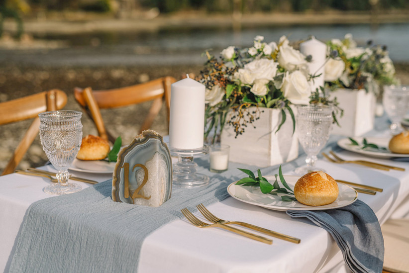 Geode wedding table number