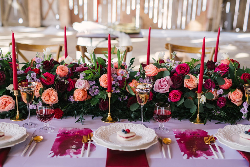 Valentines' Day wedding decor
