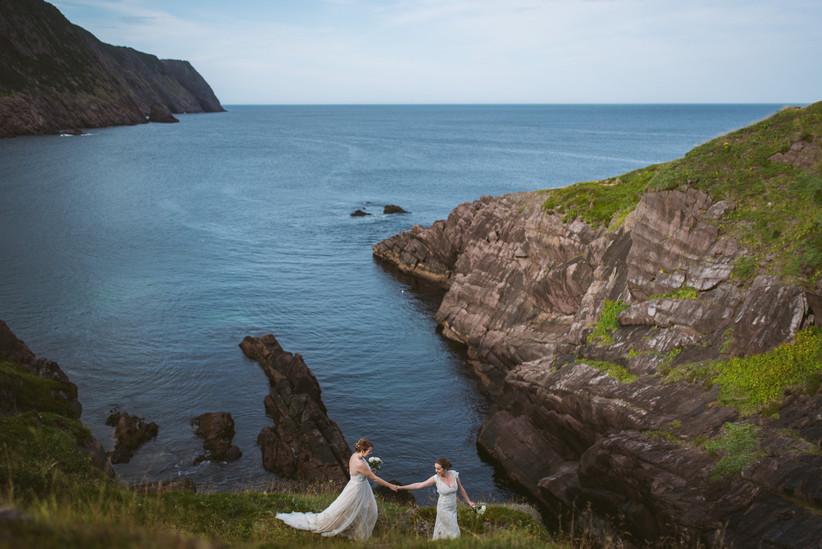 Newfoundland wedding portrait