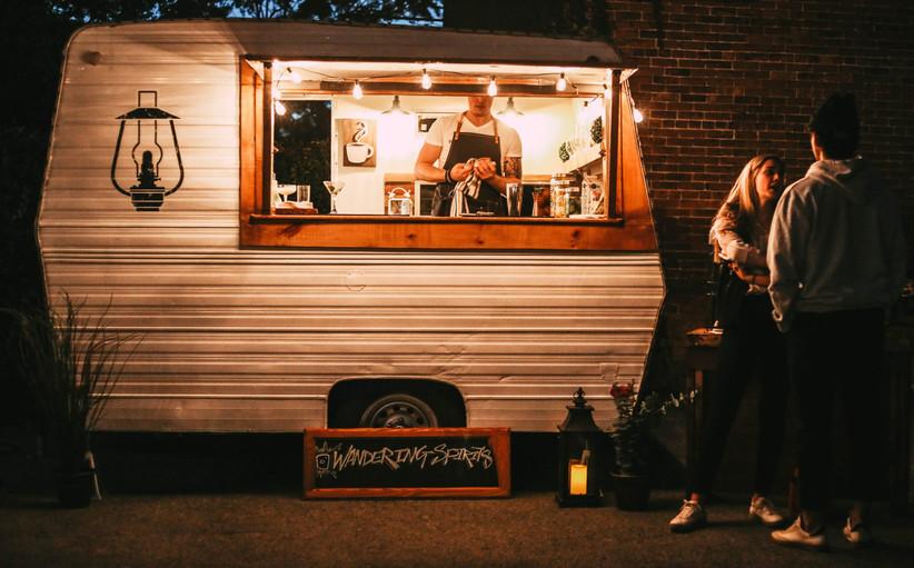 Mobile bar for outdoor wedding reception