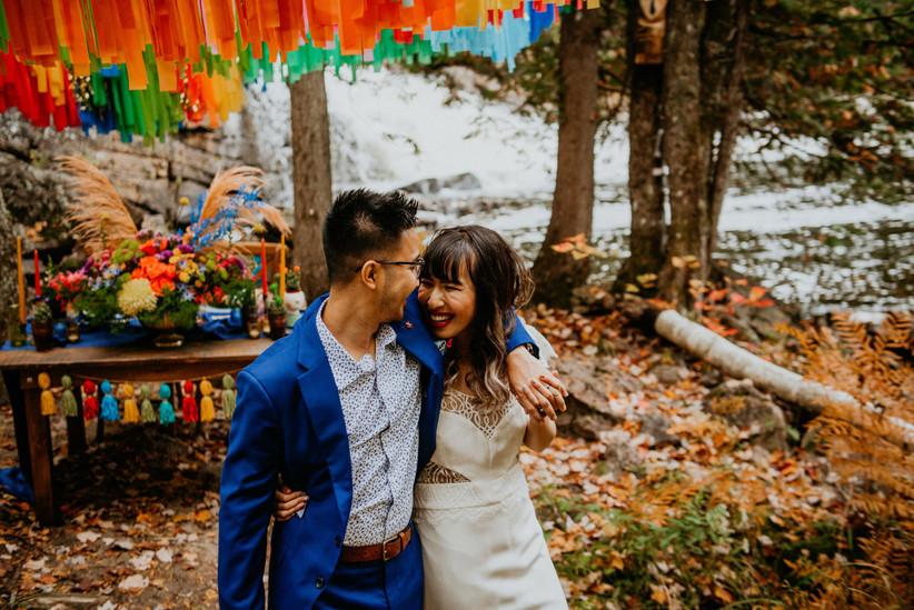 Fall wedding ideas- bright and bold colour scheme