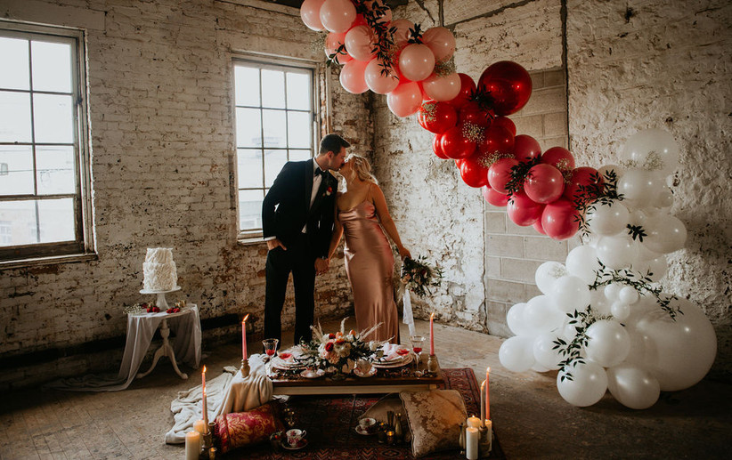 Valentine's Day Boho Wedding