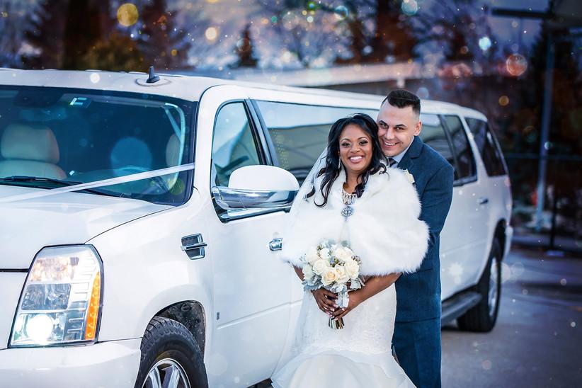 Glowing winter bride