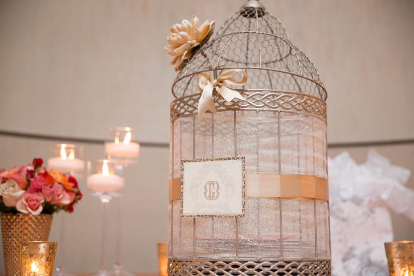 Birdcage wedding card box