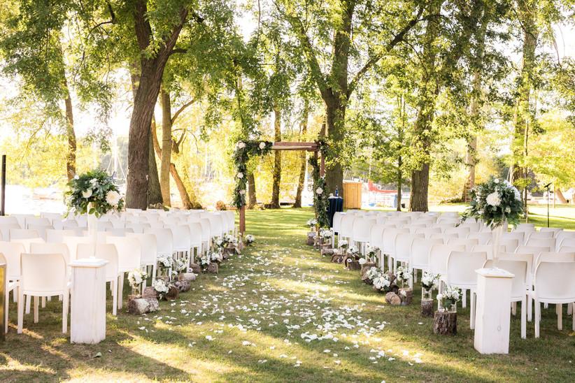 Island Yacht Club Outdoor wedding venue
