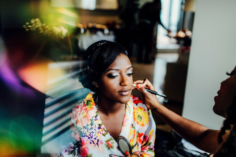 Wedding Makeup Look for a Black Bride