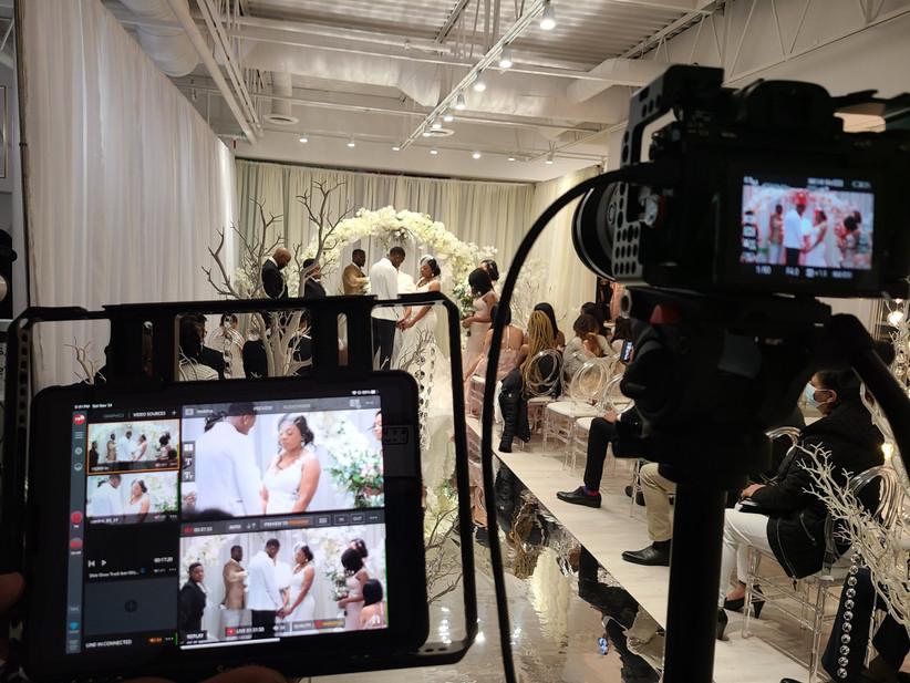 Livestream wedding cameras