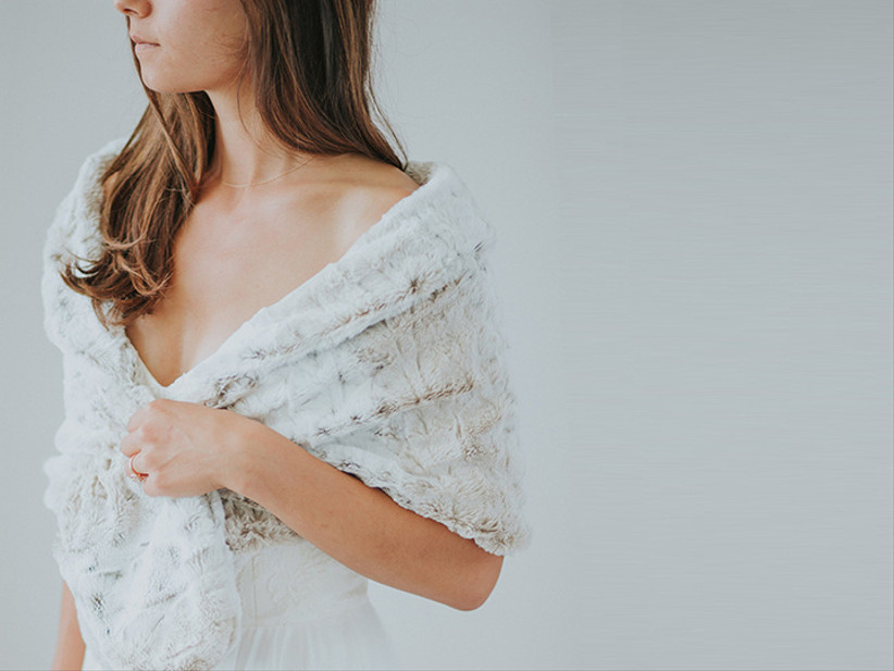 Wedding dress stole