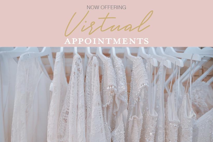 Virtual wedding dress appointment