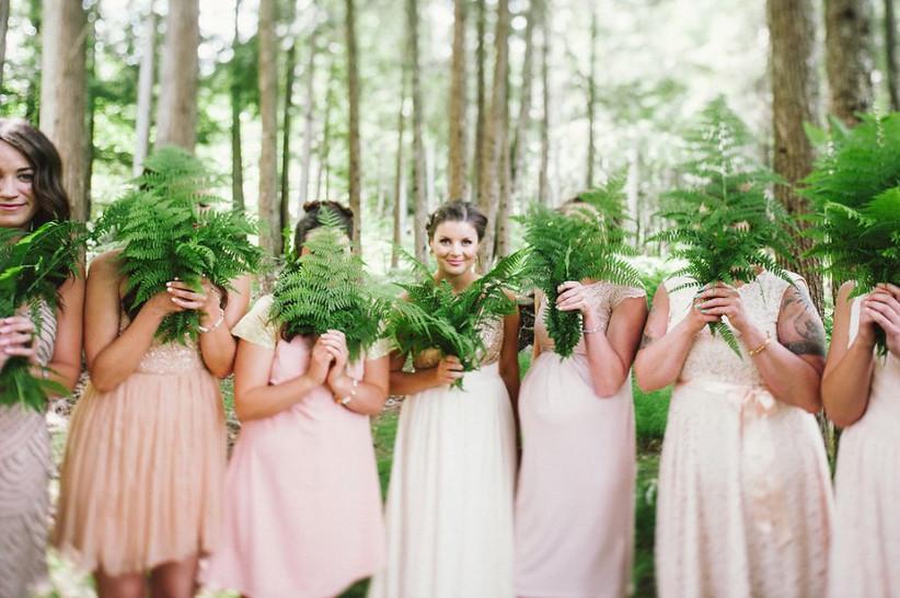 Fern bridal bouquets