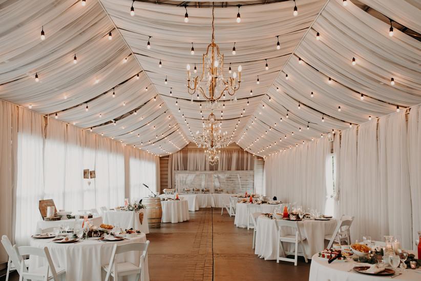 Covid wedding reception