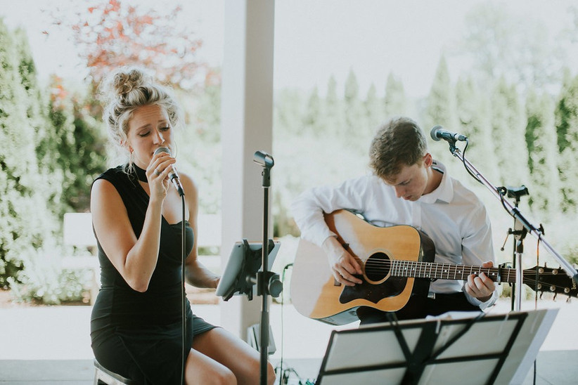 Wedding ceremony duo with singer and acoustic guitar