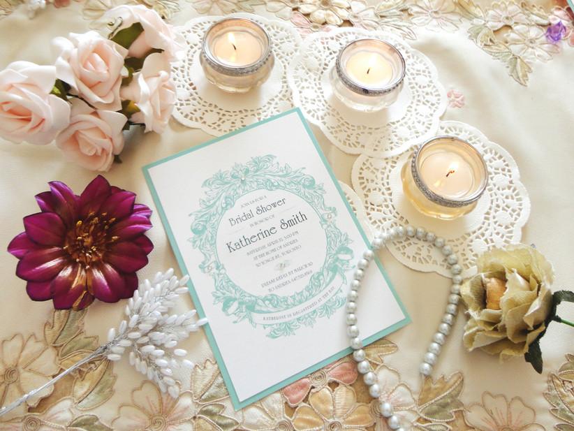 Classic bridal shower invitation