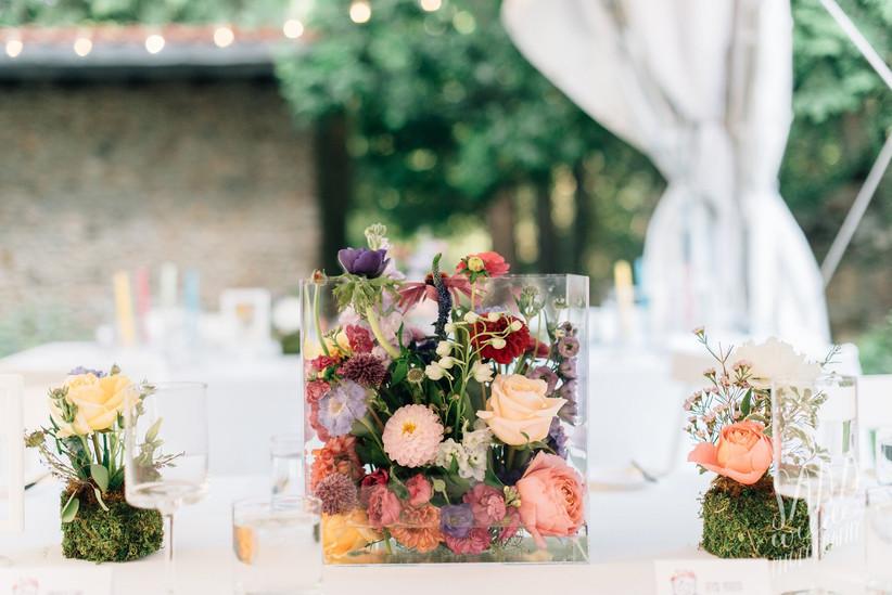 Lucite flower arrangement