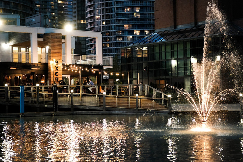 Boxcar Social waterfront wedding venue
