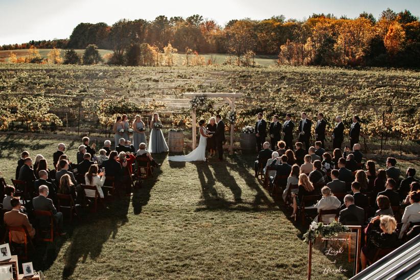 Outdoor fall farm wedding
