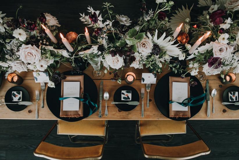 Wedding reception table photo