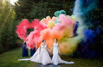 22 Rainbow Wedding Theme Ideas We're Totally Obsessed With