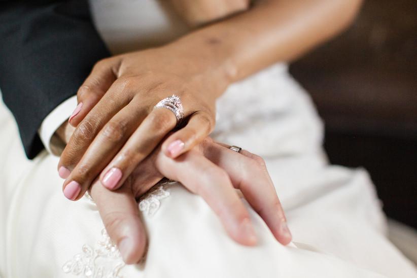 Wedding day manicure