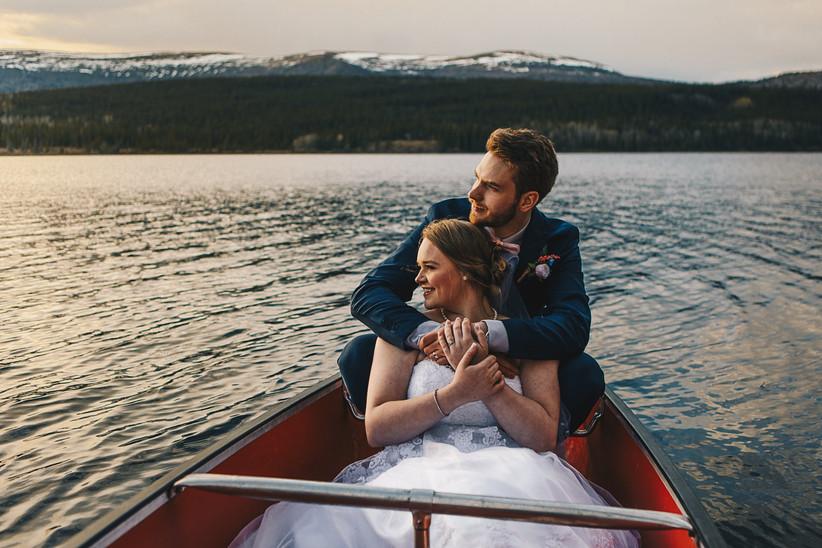 Yukon wedding portrait