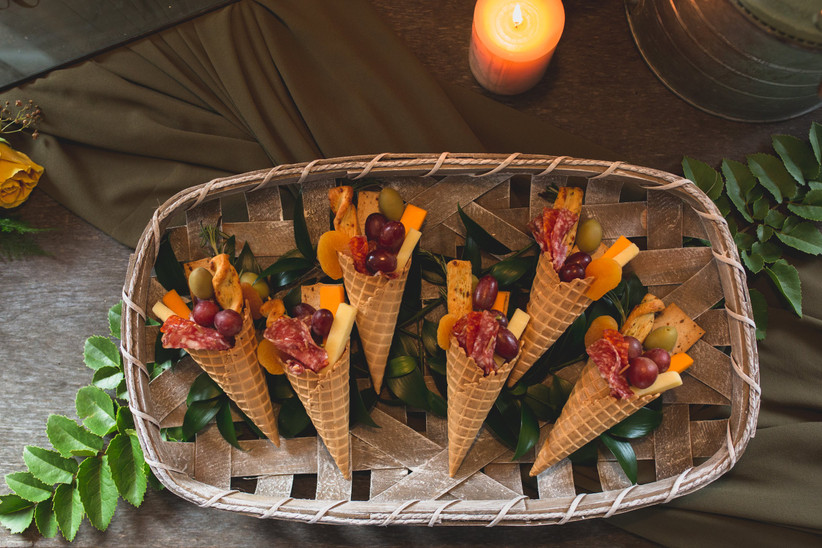 Charcuterie waffle cones