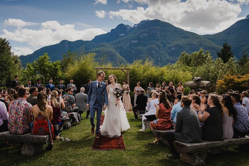 Cheekye Ranch wedding ceremony