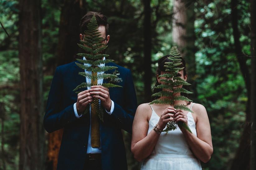 Wedding portrait in Stanley Park