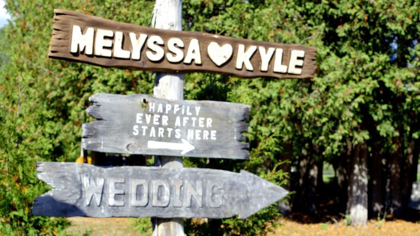 Cottage wedding signage