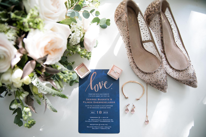 Wedding flat lay photo