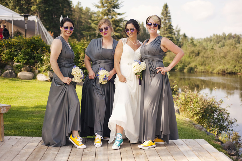 Bridal party Converse sneakers