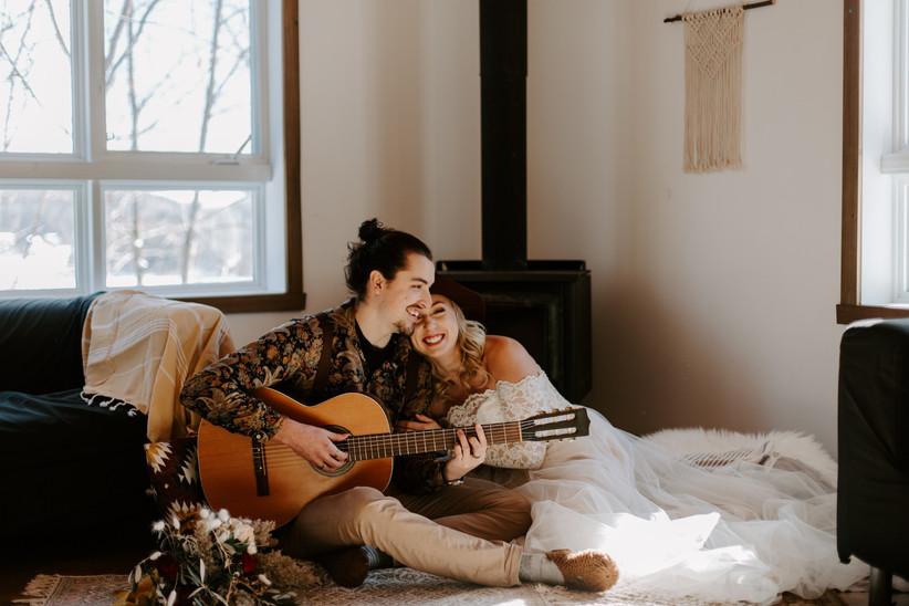 Winter honeymoon cabin