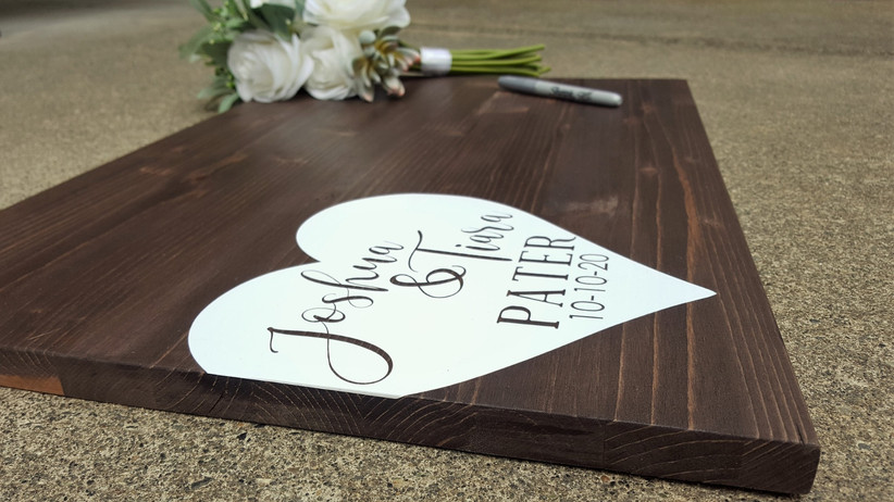 Valentines' Day wedding guest book