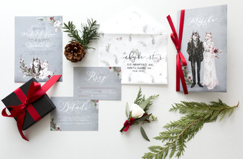 13 Winter Wedding Invitation Ideas You'll Fall in Love With