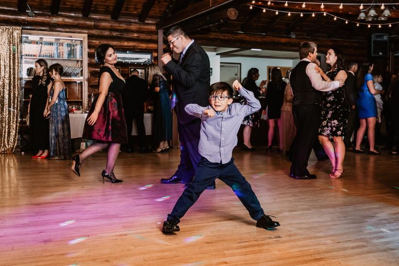 Children dancing at a wedding