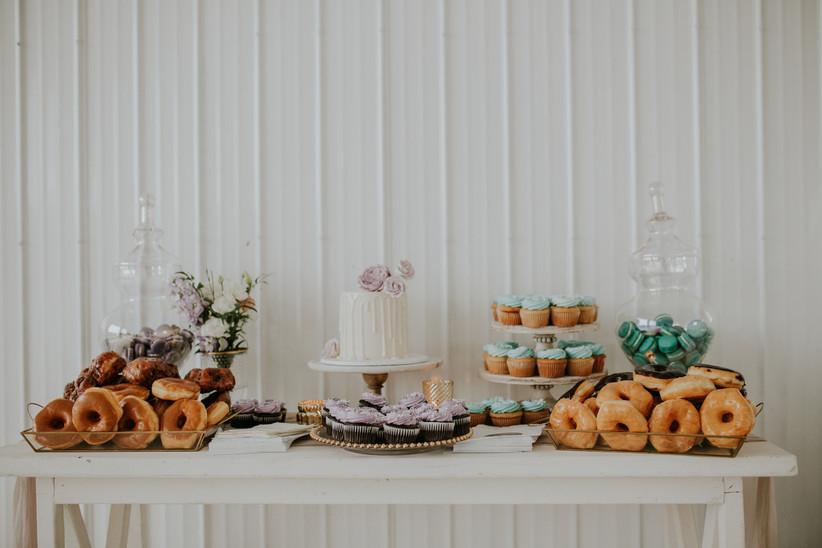 Backyard wedding dessert bar