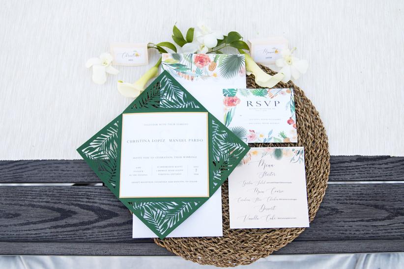 Tropicalwedding invitation