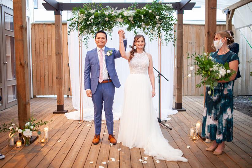 Toronto micro-wedding ceremony
