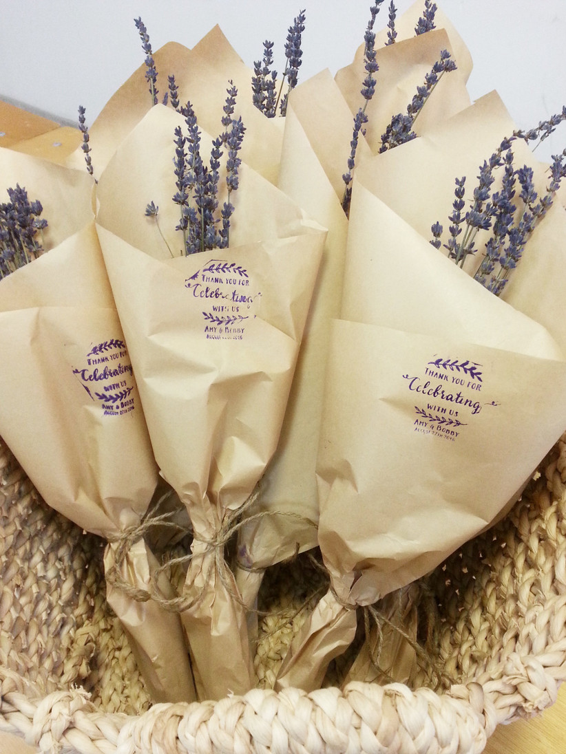Lavender wedding favours