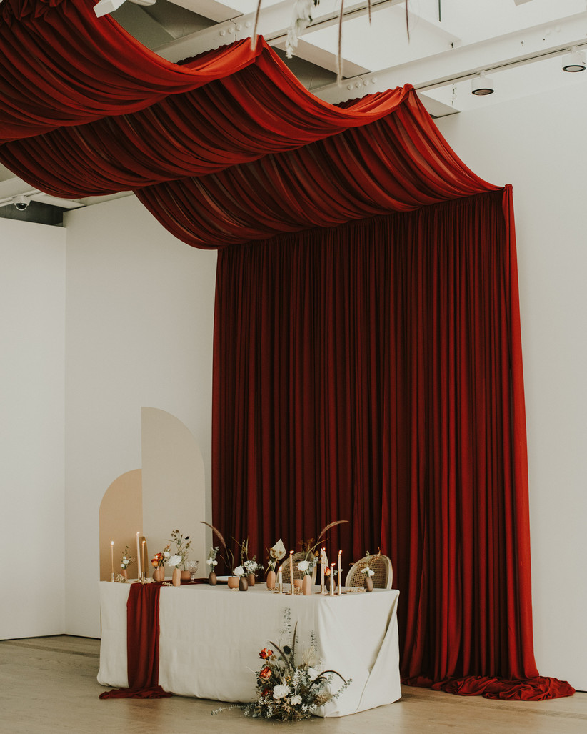Valentine's Day wedding sweetheart table