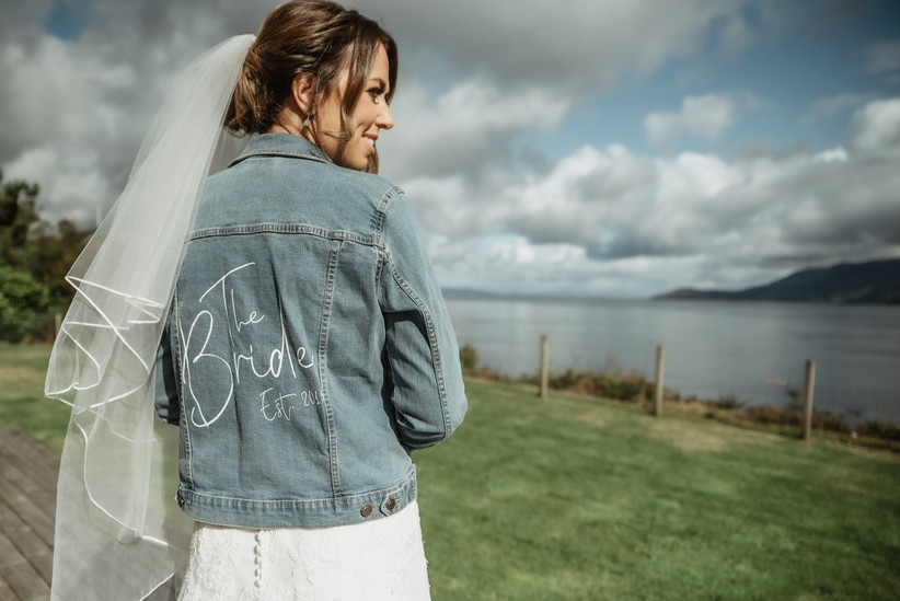 Bridal denim jean jacket