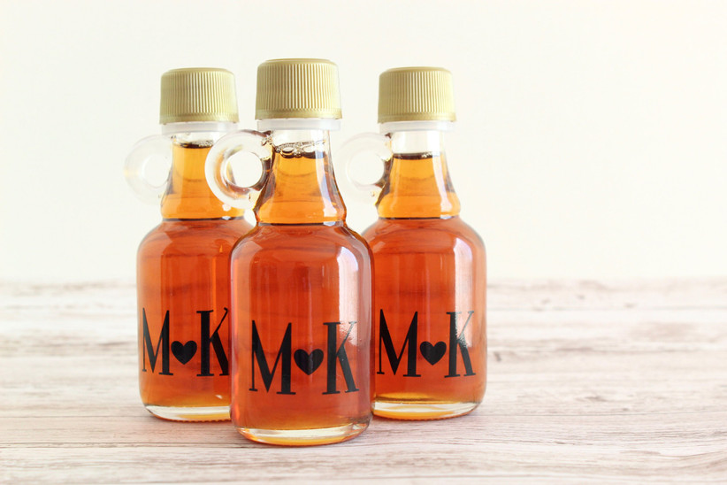 Maple Syrup Wedding Favours