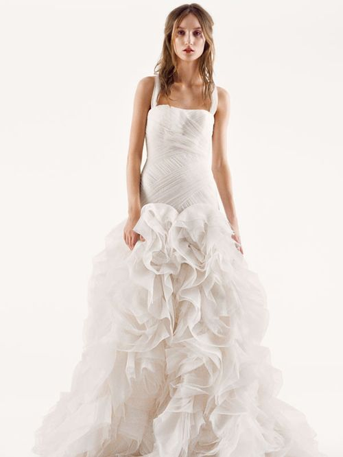 White by Vera Wang Style VW351172, David's Bridal
