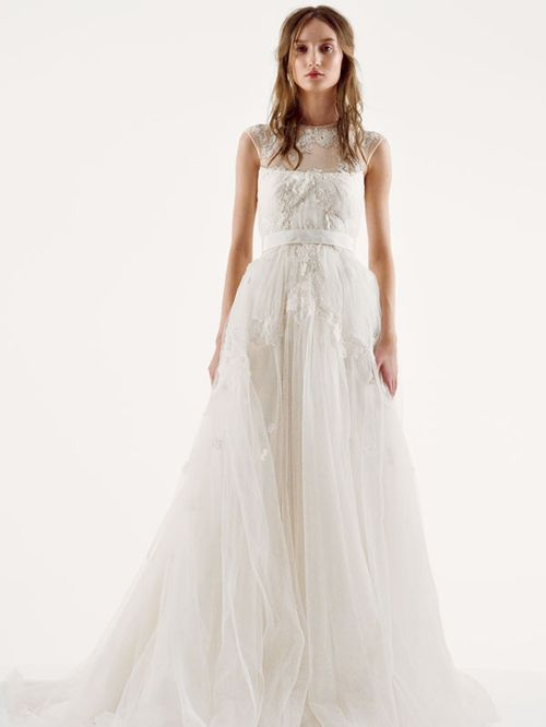 White by Vera Wang Style VW351242, David's Bridal