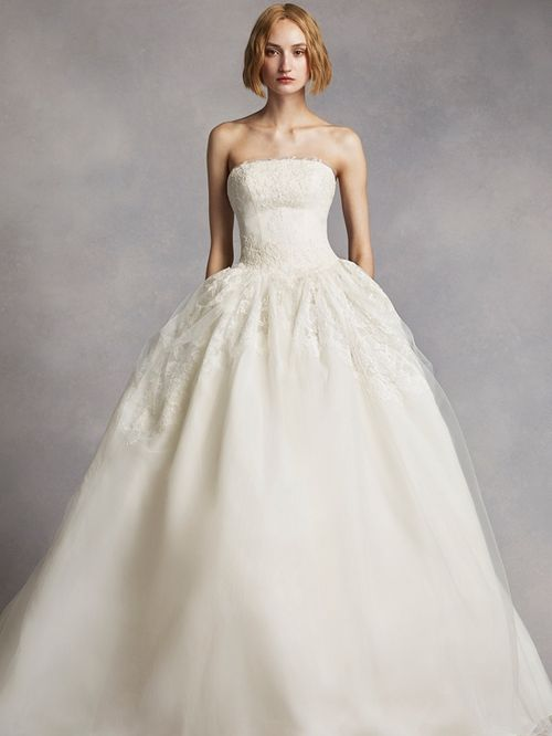 White by Vera Wang Style VW351088, David's Bridal