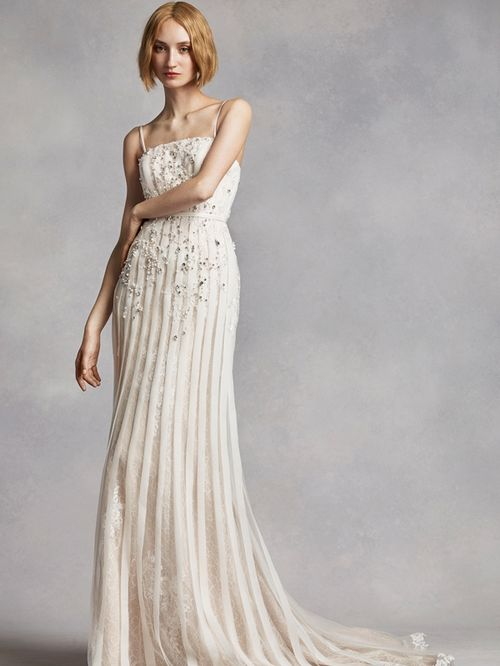 White by Vera Wang Style VW351269, David's Bridal
